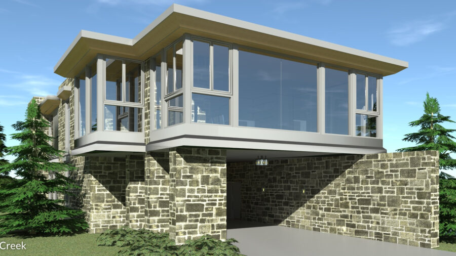 Modern Cantilevered 2 Bedroom. 2715 Square Feet. Salt Creek by Tyree House Plans.
