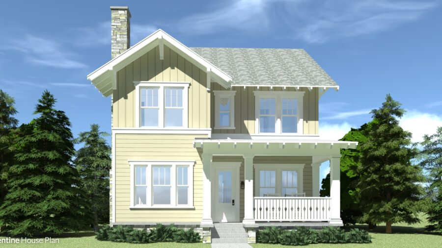 4 Bedroom Farmhouse. Clementine House Plan.