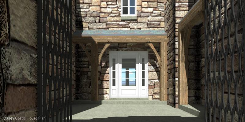 Dailey Castle Plan - Garden and Front Door