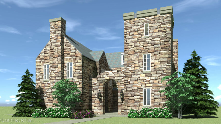 Compact Luxury Castle Home. Dailey Castle by Tyree House Plans.