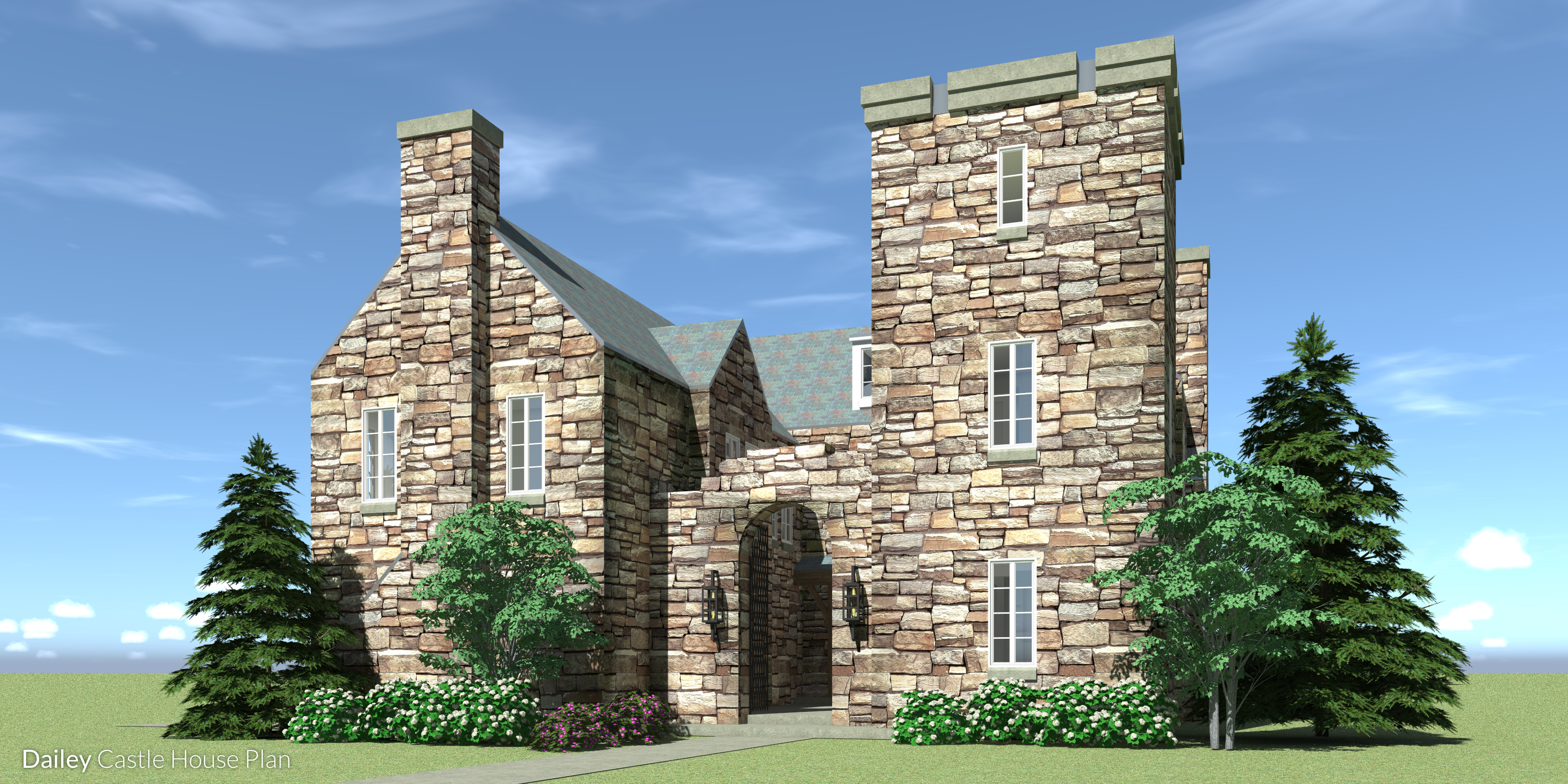 Dailey Castle Plan - Front View