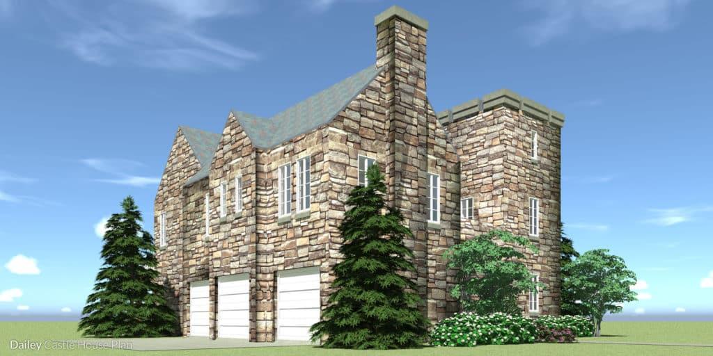 Dailey Castle Plan - Left View