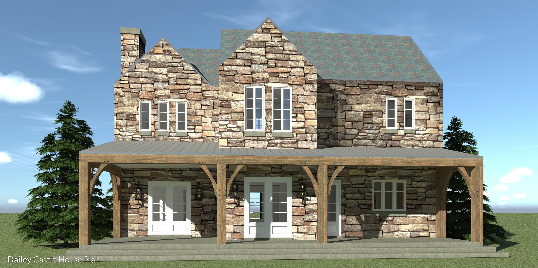 Dailey Castle Plan - Rear View