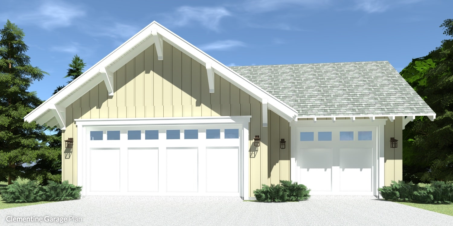 Clementine Garage Plan by Tyree House Plans