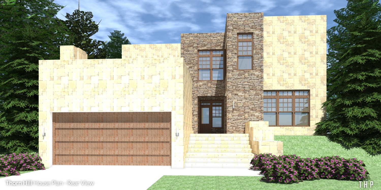 Front View - Thorn Hill House Plan