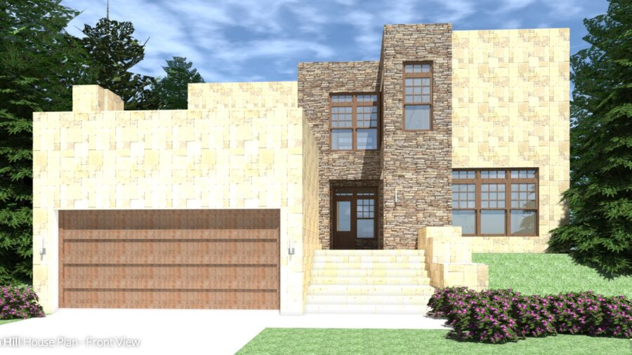 3 Bedroom Modern Texas Home. Thornhill by Tyree House Plans.