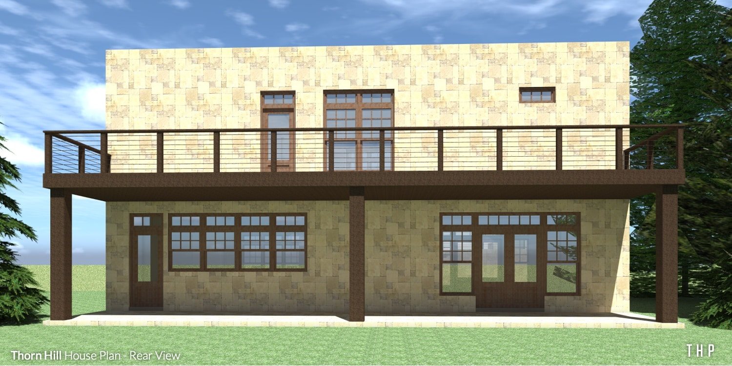Rear View - Thorn Hill House Plan
