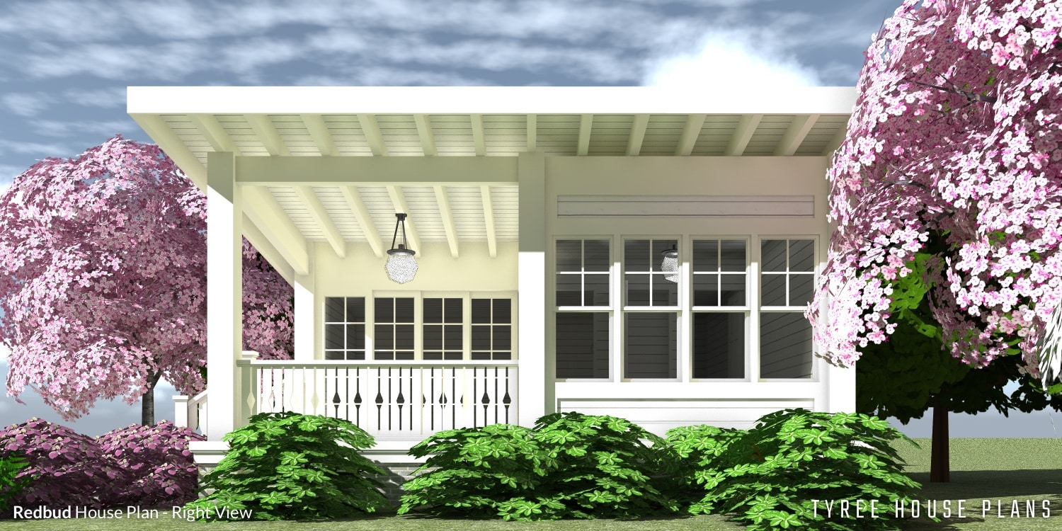 Right View - Redbud House Plan by Tyree House Plans