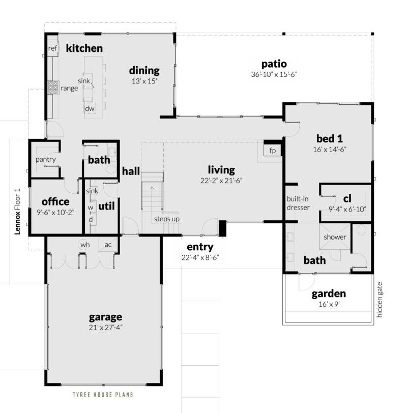 Lennox House Plan - Floor 1