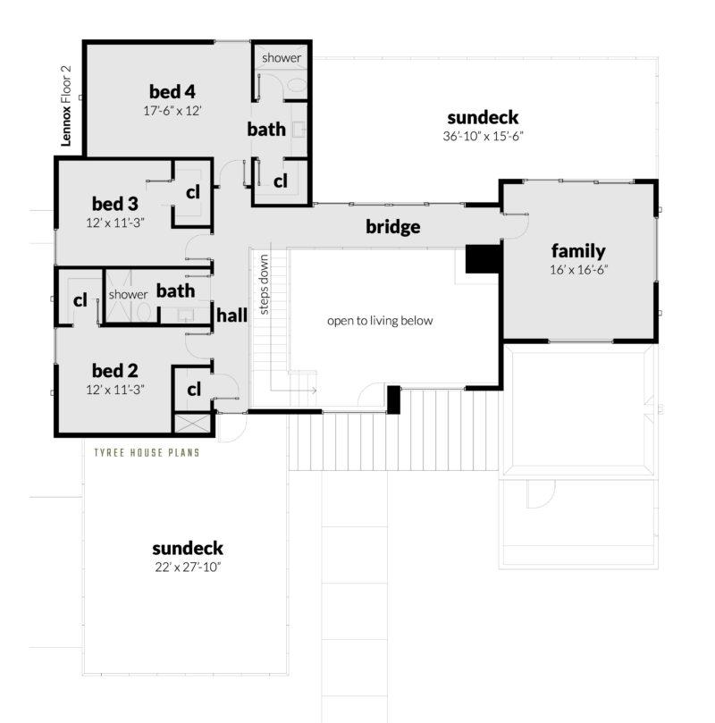 Lennox House Plan - Floor 2