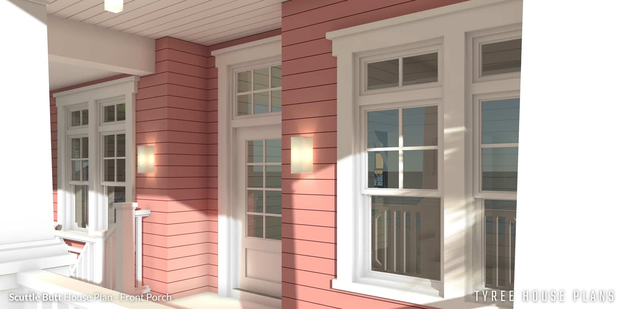 Scuttle Butt House Plan - Front Porch