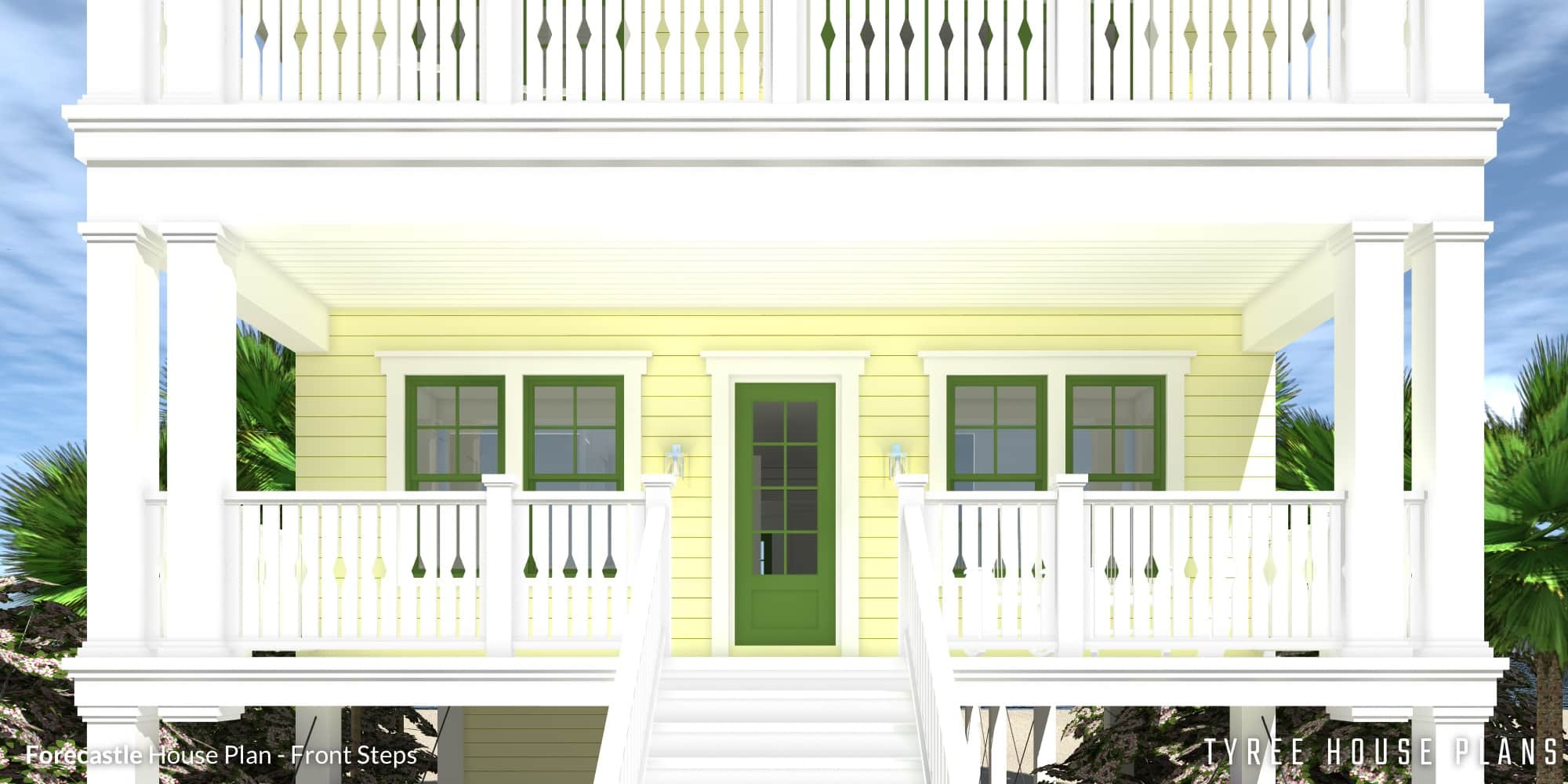 Front Porch - Forecastle House Plan by Tyree House Plans