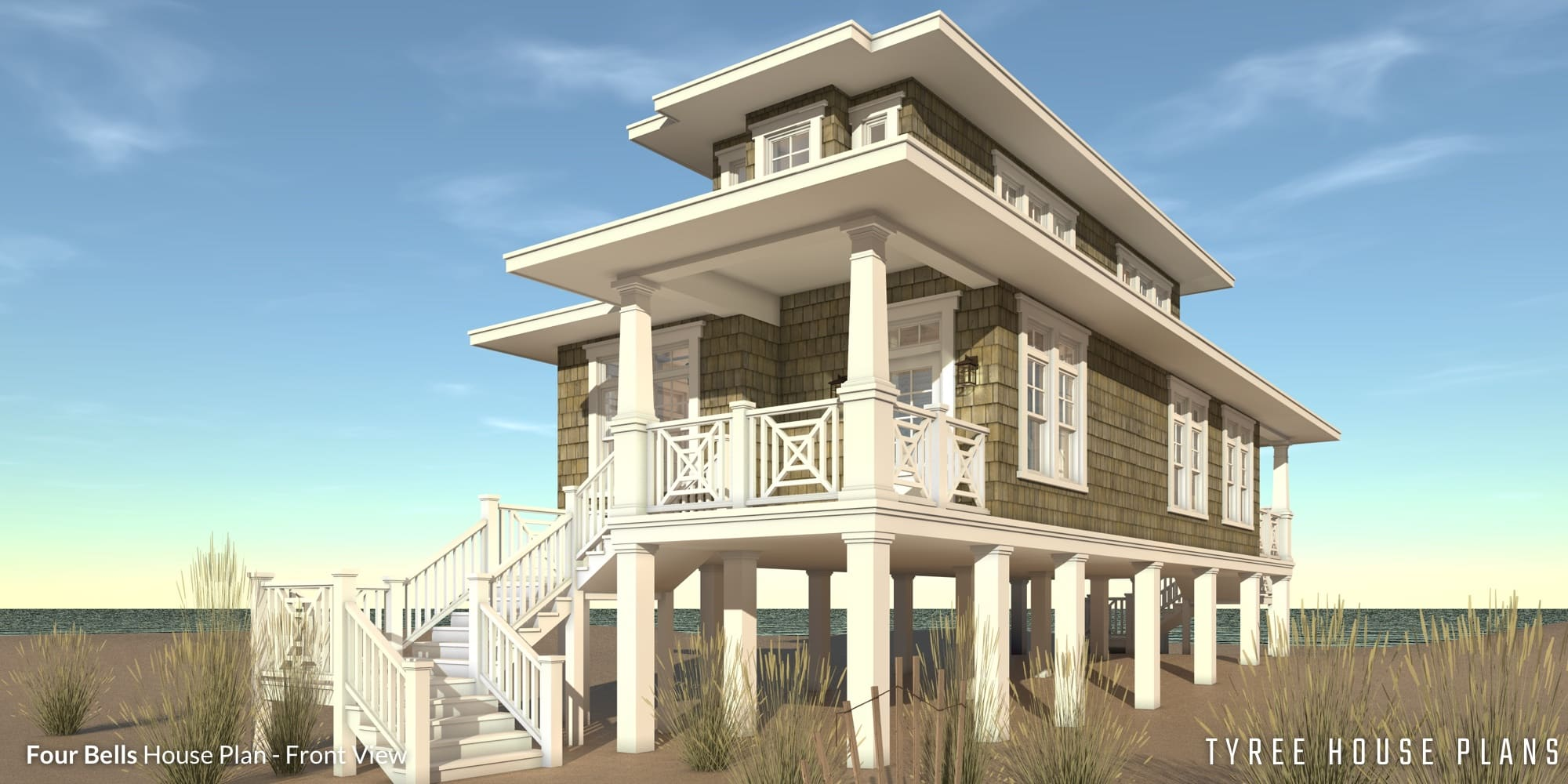 2 Bedroom Beach House. Designed for Narrow Lot. Tyree House Plans. on mountain house plans with view, 3 bedroom house plans with view, hillside house plans with view, contemporary house plans with view, craftsman house plans with view, ranch house plans with view, small house plans with view, open floor plans with view,