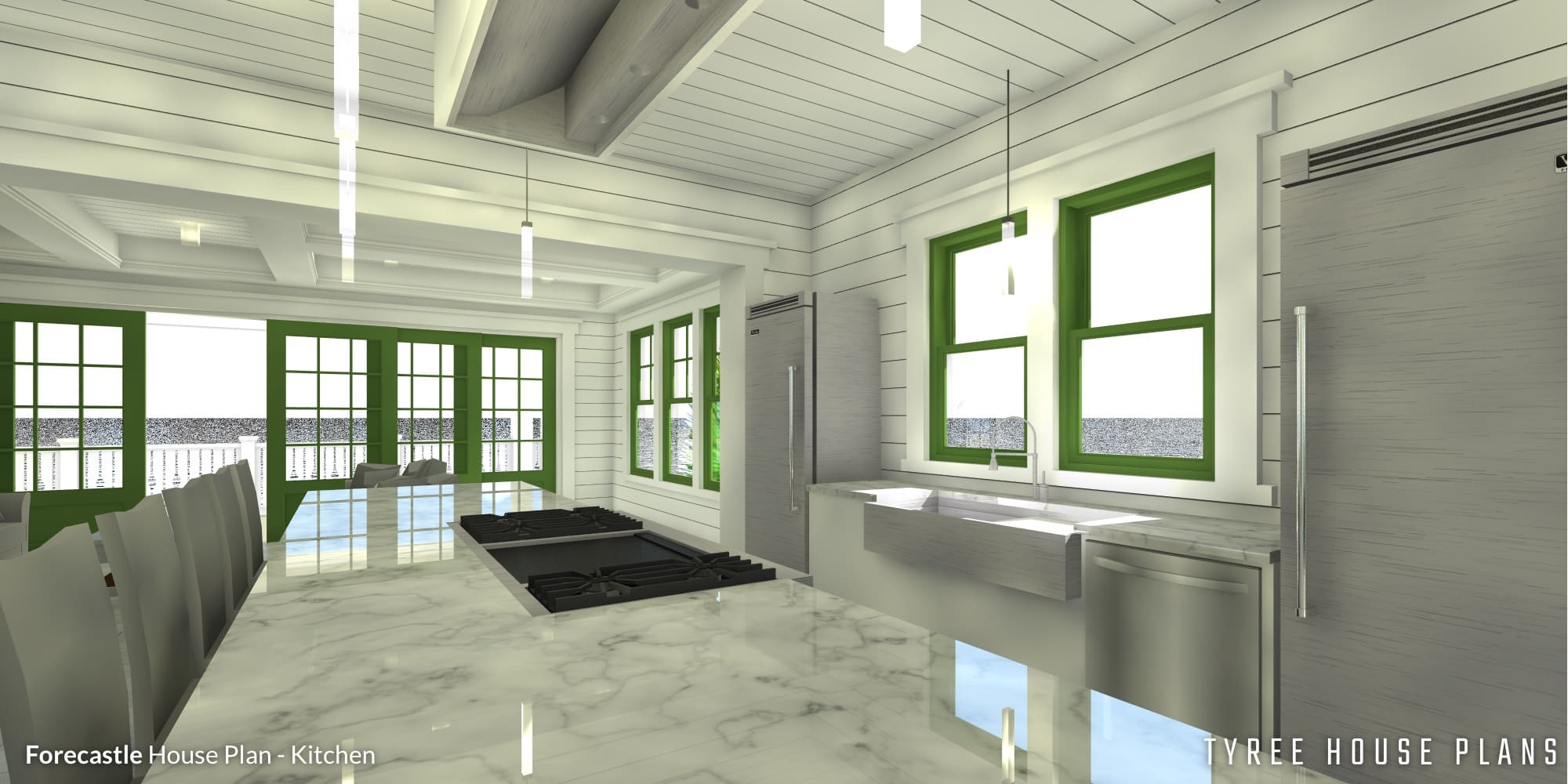 Kitchen - Forecastle House Plan by Tyree House Plans