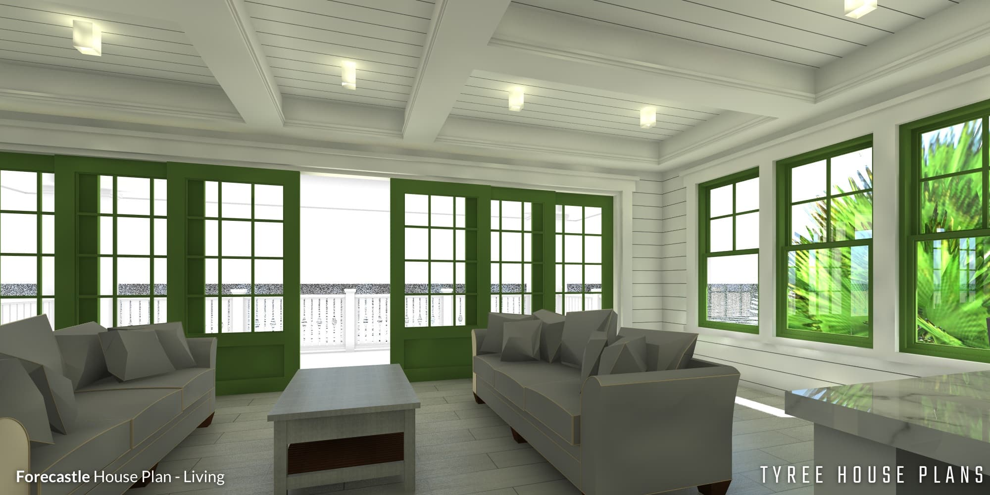 Living - Forecastle House Plan by Tyree House Plans