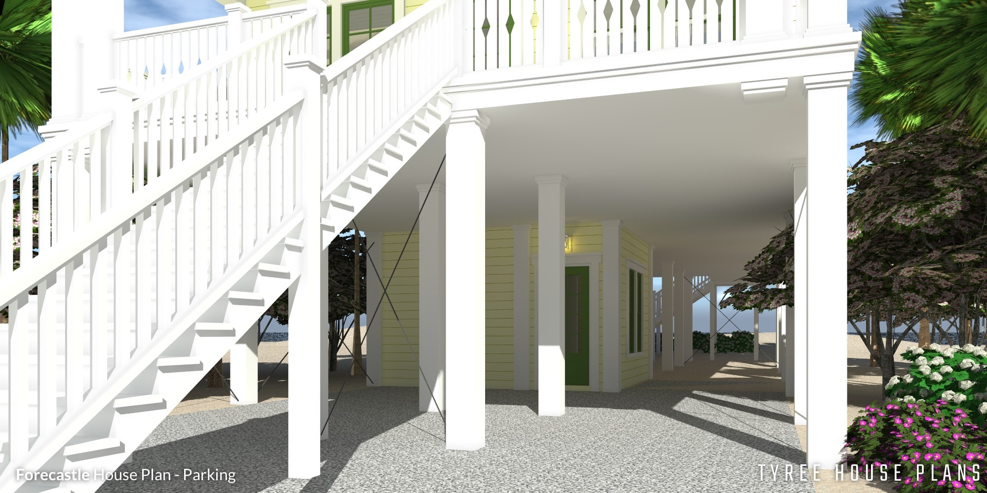 Parking - Forecastle House Plan by Tyree House Plans