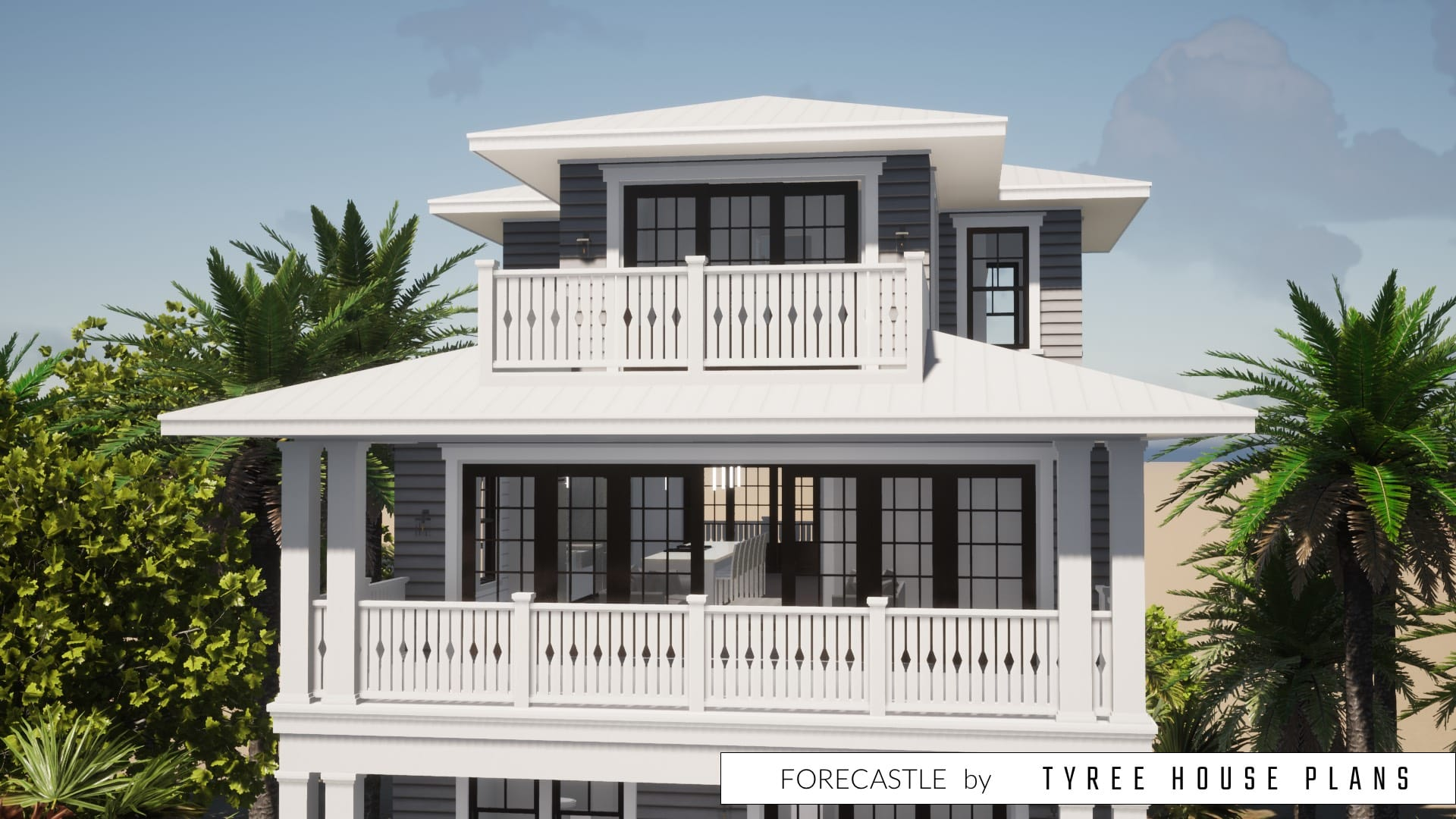 Forecastle House Plan by Tyree House Plans
