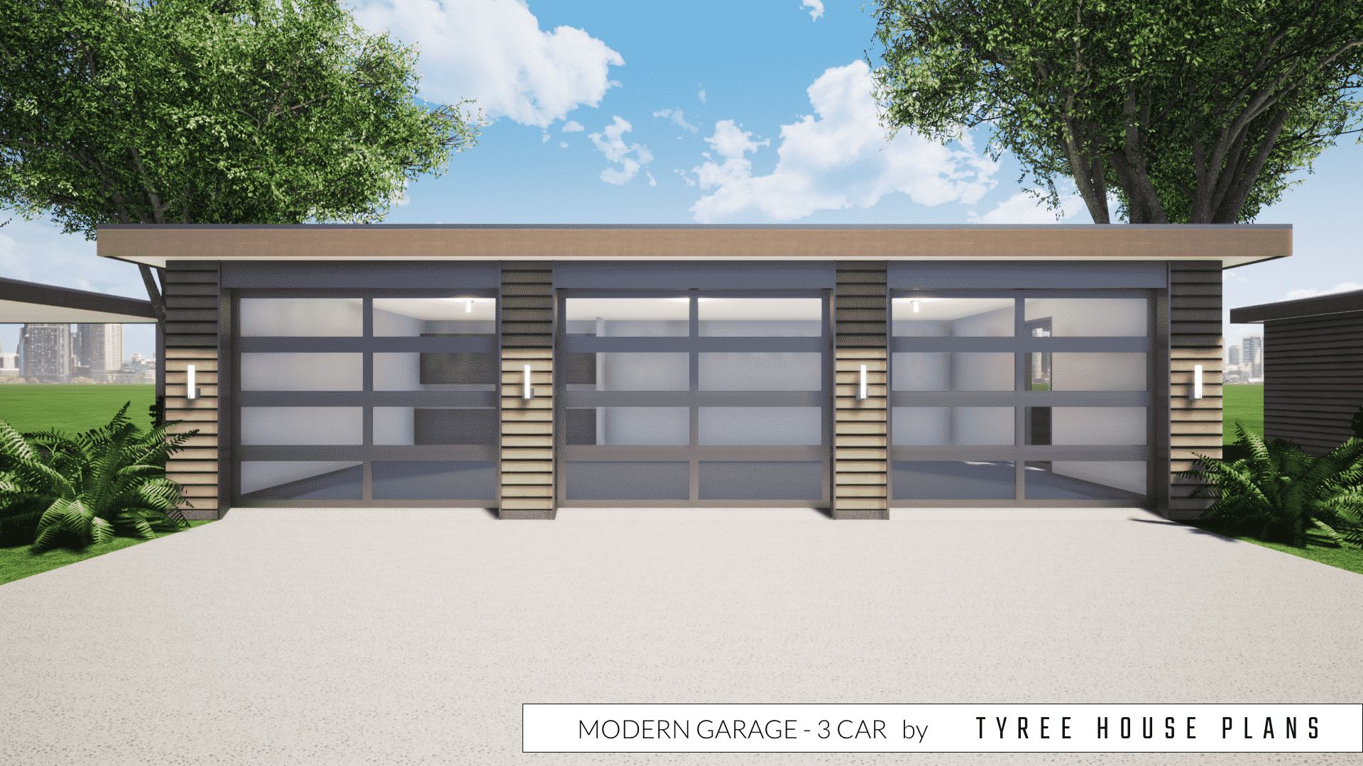 Modern Garage Plan 3 Car By Tyree House Plans