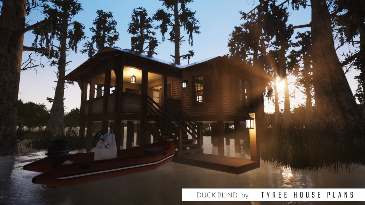 Duck Blind House Plan by Tyree House Plans