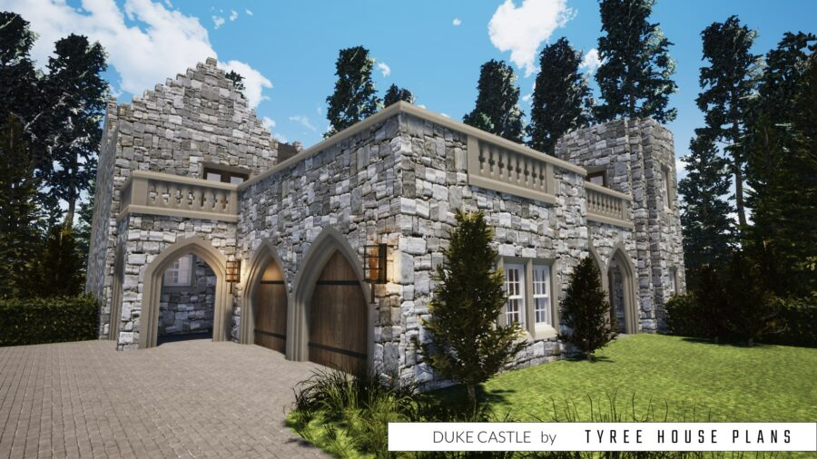 Duke Castle House Plan by Tyree House Plans
