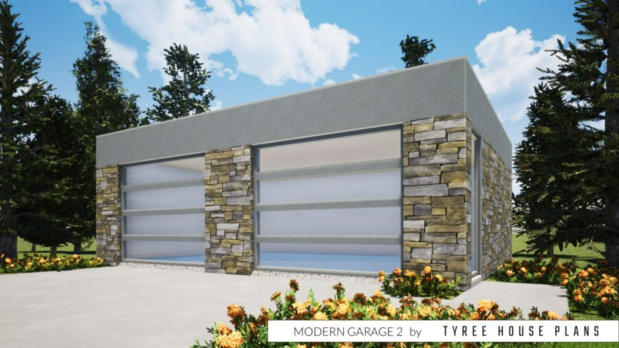 Modern Garage 2 Plan by Tyree House Plans