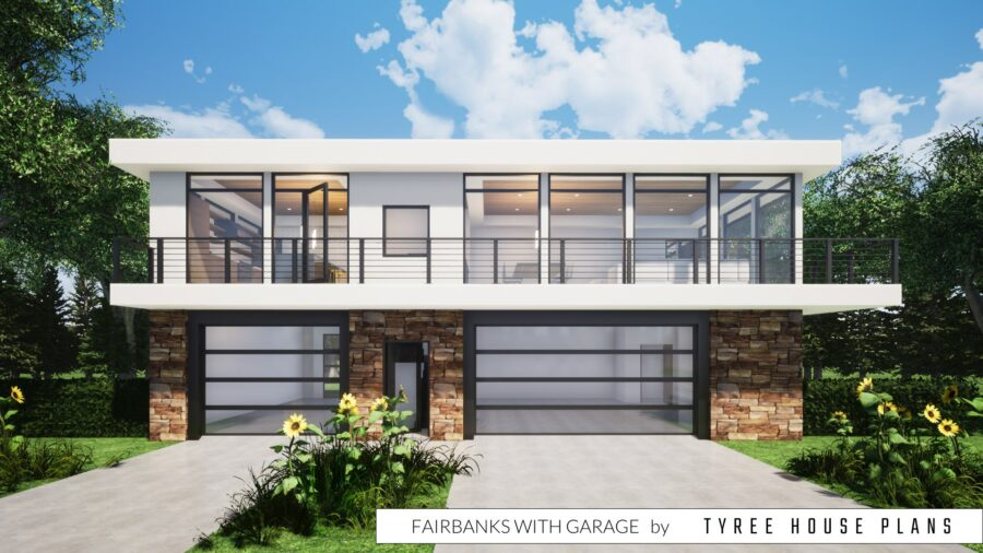 Fairbanks House Plan with Garage by Tyree House Plans