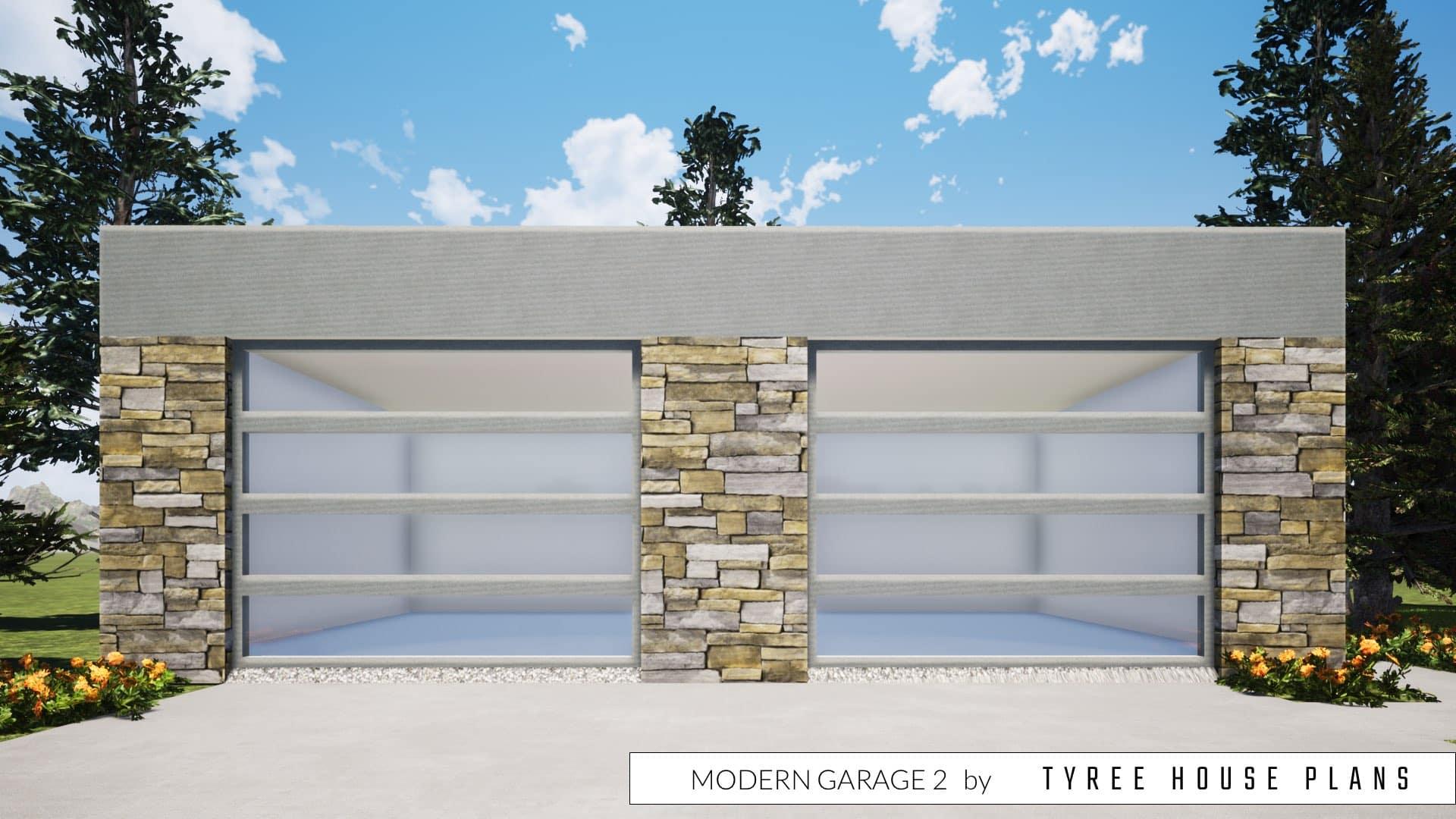 Modern Garage 2 Plan by Tyree House Plans