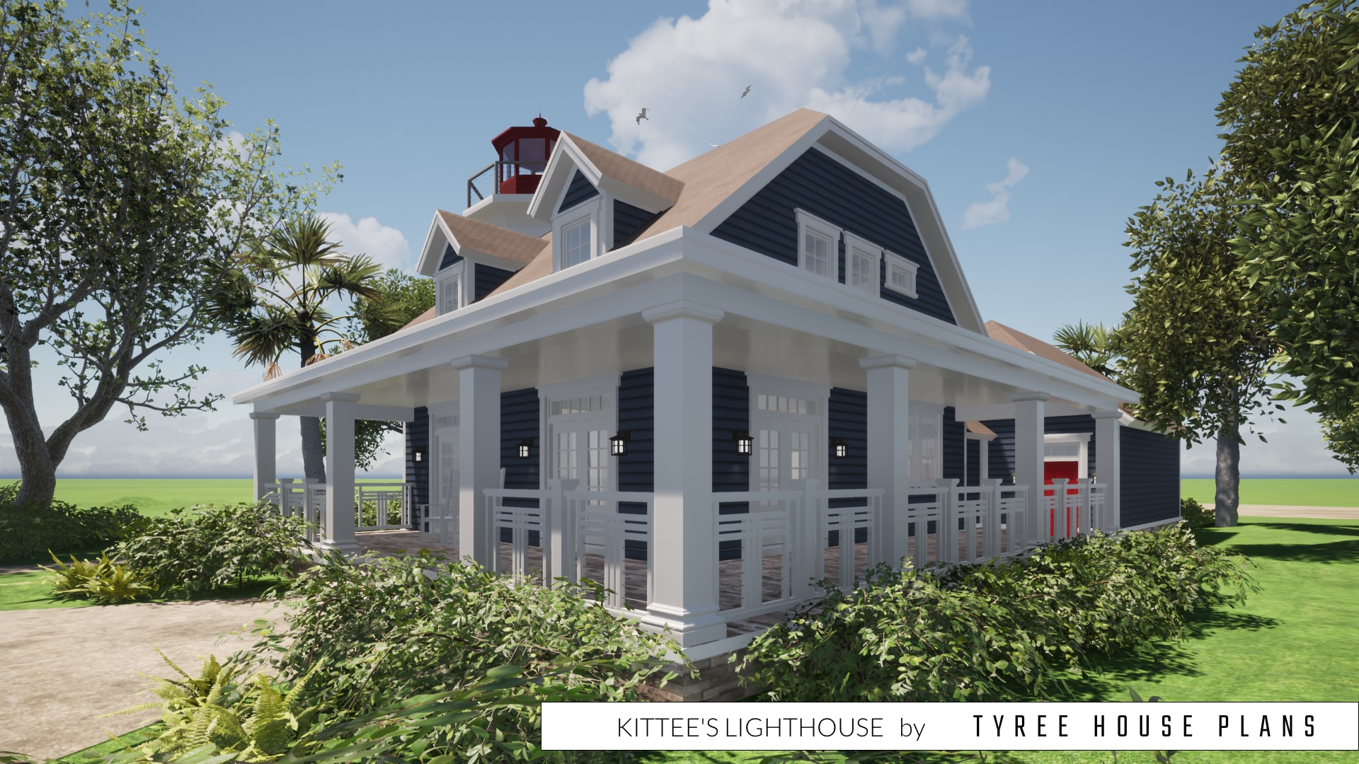 Kittee's Lighthouse Plan by Tyree House Plans