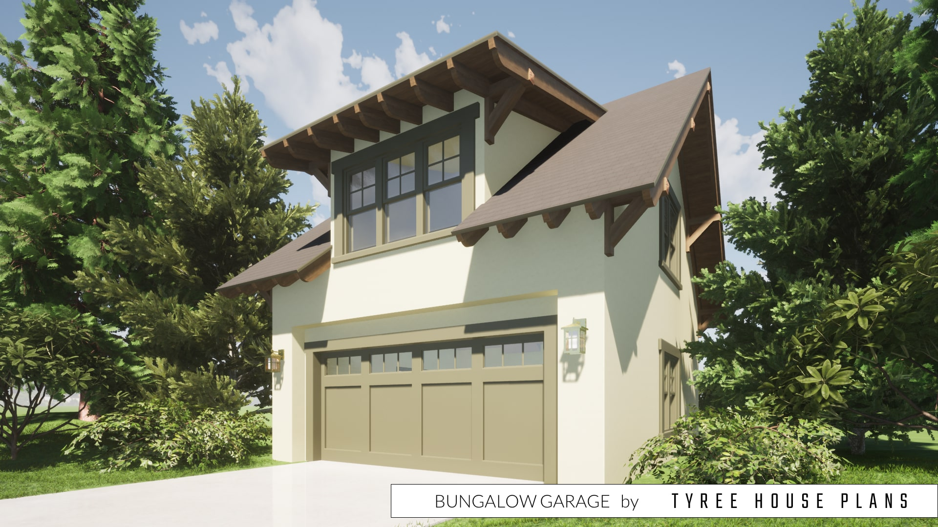 Bungalow Garage Plan by Tyree House Plans