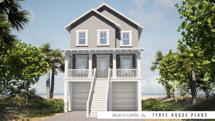 Beach Grass House Plan by Tyree House Plans